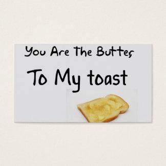 Toast-Brot-Liebe-Wörter Visitenkarte