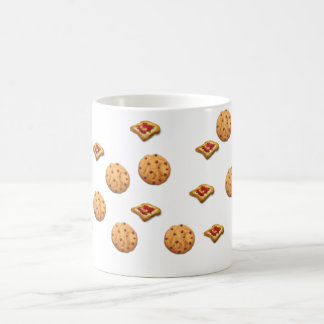 Toast und Plätzchen Kaffeetasse