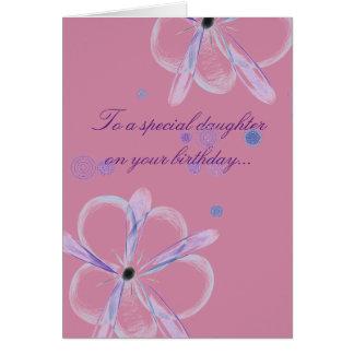 Tochter-Geburtstags-Karte mit Blumen-Kunst Karte