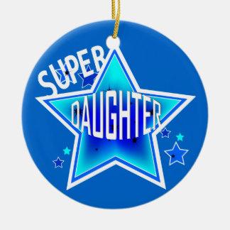 Tochter-Superstern-blaue Weihnachtsverzierung Keramik Ornament