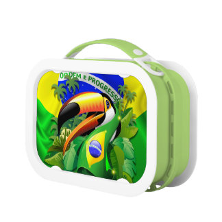 Toco Toucan mit Brasilien-Flagge Lunchbox