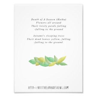 Tod einer Jahreszeit - Poesie 8,5 x 11 bedruckbar Fotodruck
