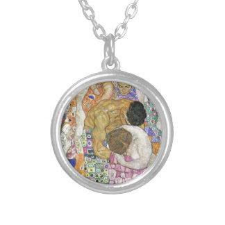 Tod und Leben durch Gustav Klimt Versilberte Kette