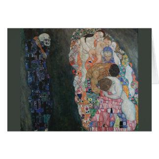 Tod und Leben Gustav Klimt Karte