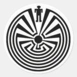 Tohono O'odham Mann in den Labyrinth-Kollektor-Auf