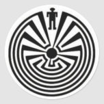 Tohono O'odham Mann in den Runde Sticker