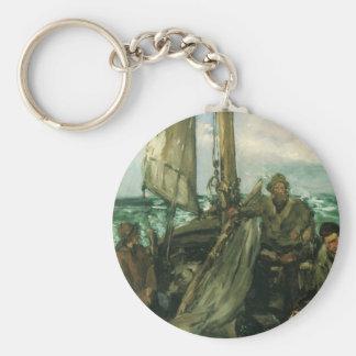 Toilers des Meeres durch Manet, Vintager Schlüsselanhänger