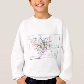 Tokyo-Metro-Karte Sweatshirt