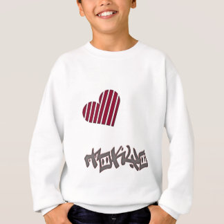 Tokyo-Streifen-Herzkopie Sweatshirt