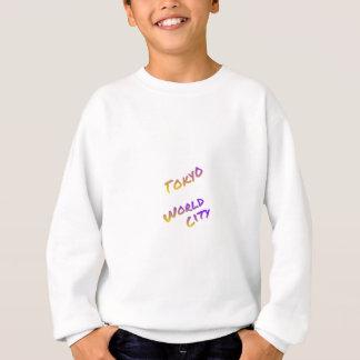 Tokyo-Weltstadt, bunte Textkunst Sweatshirt