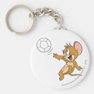 Tom- und Jerry-Fußball (Fußball) 1 Standard Runder Schlüsselanhänger