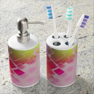 Toothbrush Dispenser and Soap Dispenser Badset