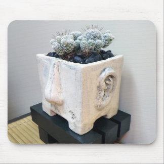 """""""Topf-Kopf"""" mit Kaktus durch die perfekte Pflanze Mousepads"""