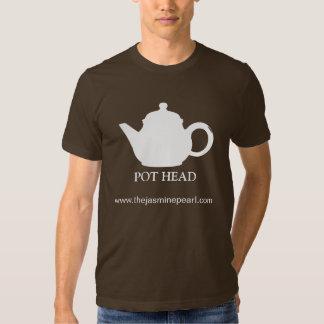 Topf-weiß, KIFFER, www.thejasminepearl.com Tshirts