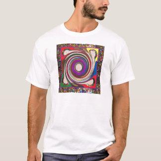 Tornado-Wirbelwind HighTide bewegt bunte Kunst T-Shirt