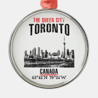 Toronto Silbernes Ornament