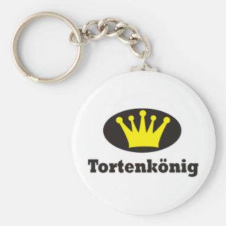 Tortenkönig Standard Runder Schlüsselanhänger