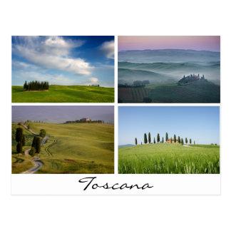 Toskana gestaltet Postkarte landschaftlich