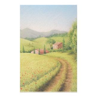 Toskanisches Bauernhaus, Italien im Briefpapier