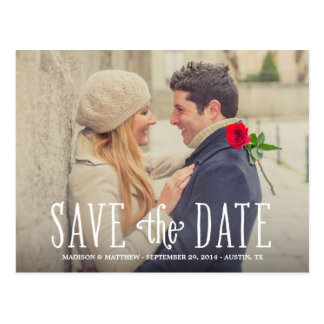 Total der Postkarte in der Liebe-| Save the Date