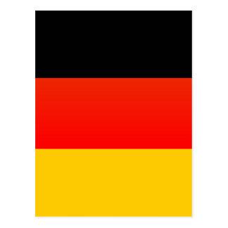 Total deutsche Flagge Postkarte