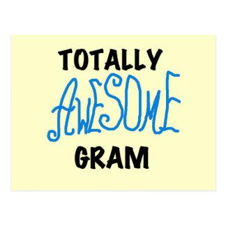 Total fantastisches Gramm-blaue T-Shirts und Postkarte