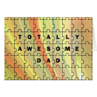 Total fantastisches Vati-Puzzlespiel-Gelb/Brown Karte