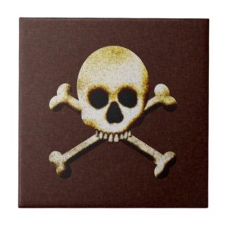 Totenkopf mit gekreuzter Knochen Keramikfliese