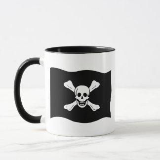 Totenkopf mit gekreuzter Knochen Tasse