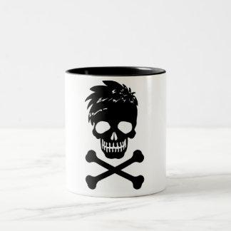 Totenkopf Zweifarbige Tasse