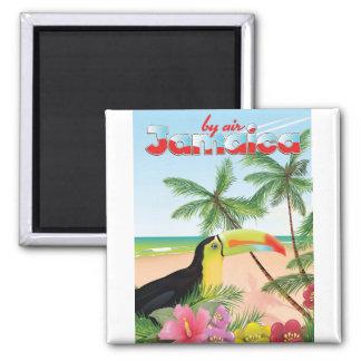 Toucan Strandplakat Jamaikas Quadratischer Magnet