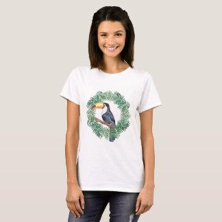Toucan und grüne Palmblätter T-Shirt