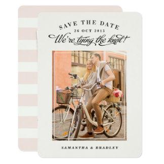 Touch der Karte des Klassen-Fotos Save the Date 12,7 X 17,8 Cm Einladungskarte