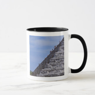 Touristen, die Treppe auf Ruinen von EL klettern Tasse