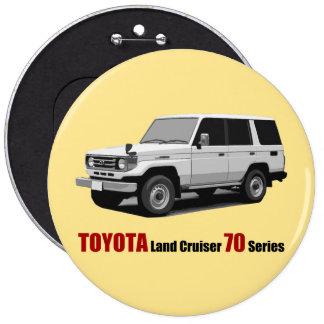 Toyota landen Reihe HZJ77 des Kreuzer-70 Runder Button 15,3 Cm