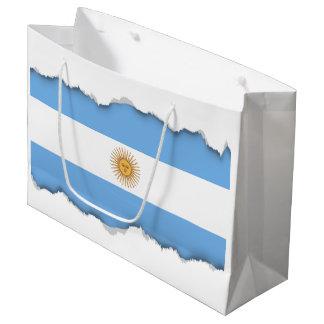 Traditionelle Argentinien-Flagge Große Geschenktüte