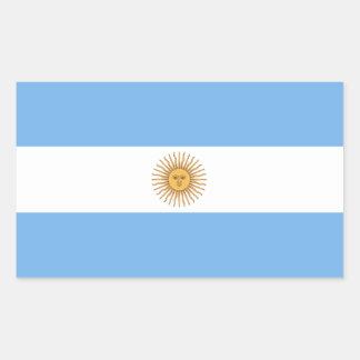 Traditionelle Argentinien-Flagge Rechteckiger Aufkleber