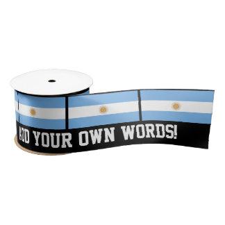 Traditionelle Argentinien-Flagge Satinband