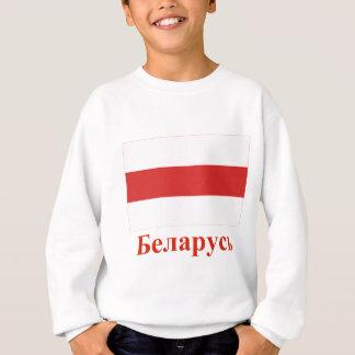 Traditionelle Flagge Weißrusslands mit Namen auf Sweatshirt