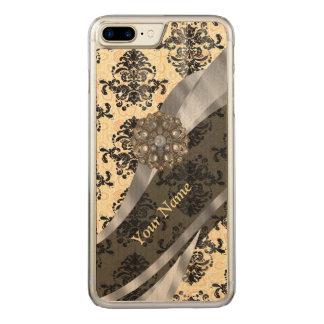 traditioneller Vintager Damast Carved iPhone 8 Plus/7 Plus Hülle