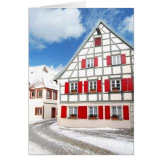 Traditionelles bayerisches Haus Grußkarte