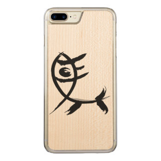 Traditionelles hieroglyphisches Pferd Carved iPhone 8 Plus/7 Plus Hülle