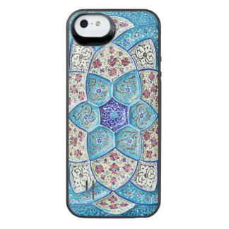 Traditionelles marokkanisches Türkis Blau, Weiß, iPhone SE/5/5s Batterie Hülle