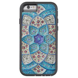Traditionelles marokkanisches Türkis Blau, Weiß, Tough Xtreme iPhone 6 Hülle