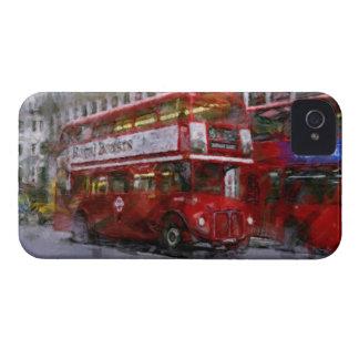 Trafalgar-Platz-roter doppelstöckiger Bus, London, iPhone 4 Hüllen