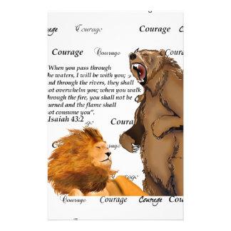 Tragen Sie friedlichen Löwe - Mut - #2 Treue Bla Briefpapier