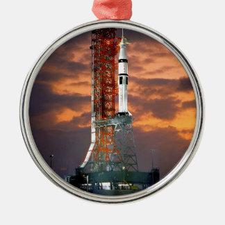 Trägerrakete-SonnenaufgangLaunchpad der NASAs Rundes Silberfarbenes Ornament