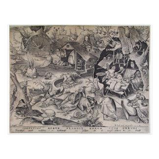 Trägheit durch Pieter Bruegel das Älteste Postkarte