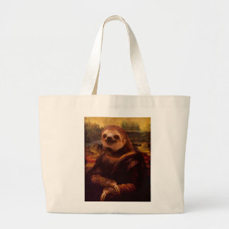 Trägheit Mona Lisa Jumbo Stoffbeutel