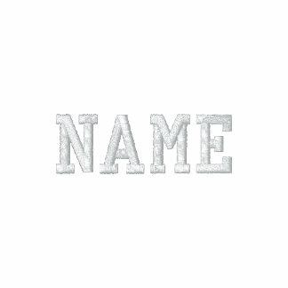Trainerjacke - personifizieren Sie Namen auf Front Bestickte Jacken